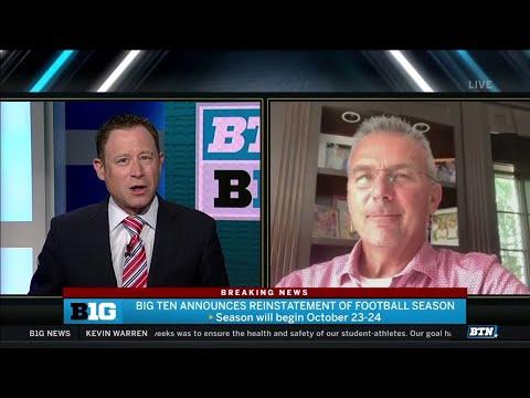 """It's Great News""   Urban Meyer on Big Ten Football Coming Back"