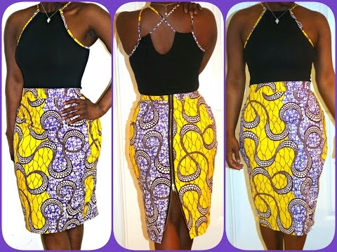 PART 2 OF 2: THE BODYSUIT WITH MATCHING ANKARA FABRIC.