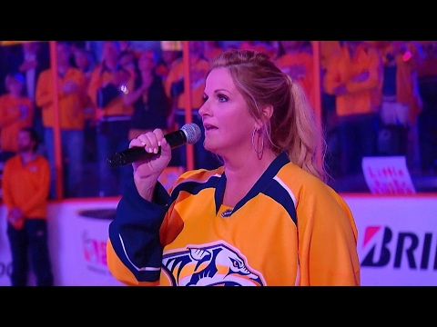 Trisha Yearwood sings Star Spangled Banner ahead of Game 6