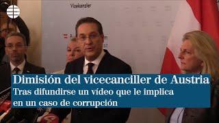 Dimite el vicecanciller de Austria tras difundirse un vídeo que le implica en un caso de corrupción