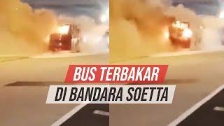 Bus Air Asia Terbakar di Terminal 3 Bandara Soekarno Hatta