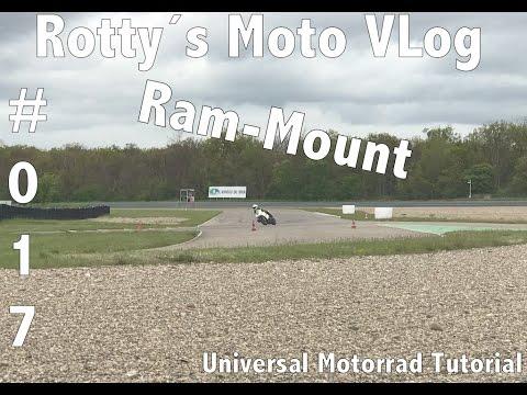 Motorrad Universal Tutorial #017 RAM MOUNT Montage Media Tasche Strom Befestigung Navi Smartphone am