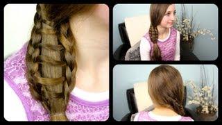 Ladder Braid Side Ponytail | Cute Girls Hairstyles