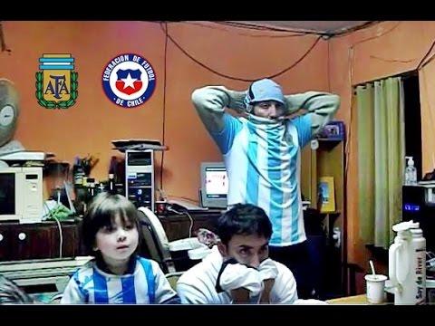 Argentina 0 ( 2 ) Chile 0 ( 4 ) - Reacciones De un Hincha - Final Copa America Centenario - Penales
