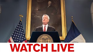 NYC Mayor de Blasio holds briefing