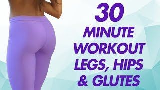 Shape Your Hips, Inner Thighs & Butt At Home, Cardio Workout W Stretches, Fitness