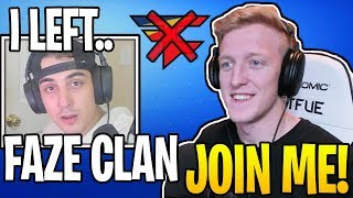 Streamers React To Cloak *LEAVING* FAZE To Join Tfues NEW ORG! (RIP)