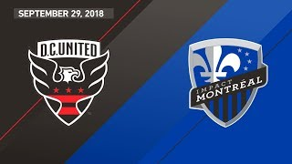 HIGHLIGHTS: D.C. United vs. Montreal Impact | September 29, 2018