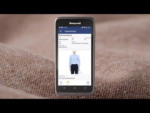 Mobiles Gerät zeigt Artikelinfo der Fashion Cloud in der App netix mobile solution