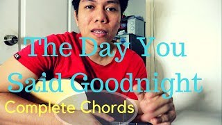 Hale - The Day You Said Goodnight CHORDS, INTRO, OUTRO (Guitar Tutorial)