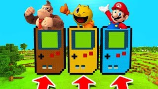 Minecraft PE : DO NOT CHOOSE THE WRONG GAMEBOY! (Donkey Kong, Pacman & Mario)