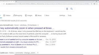 Google chrome zooming without scaling