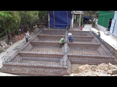 Basic Construction - How To Build And Set Up A Reinforced Concrete Foundation For House