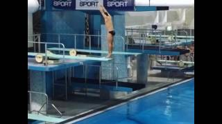 APS Boys Diving - Lachlan Cronin's U17 Record breaking Dive 2017