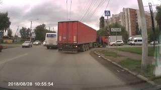 ДТП 28.08.2018 авария Омск 15-я рабочая