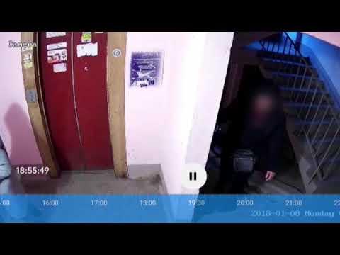 Нападение «насильника» в подъезде сняли камеры наблюдения