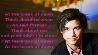 Eric Saade - Break Of Dawn (official song with lyrics)