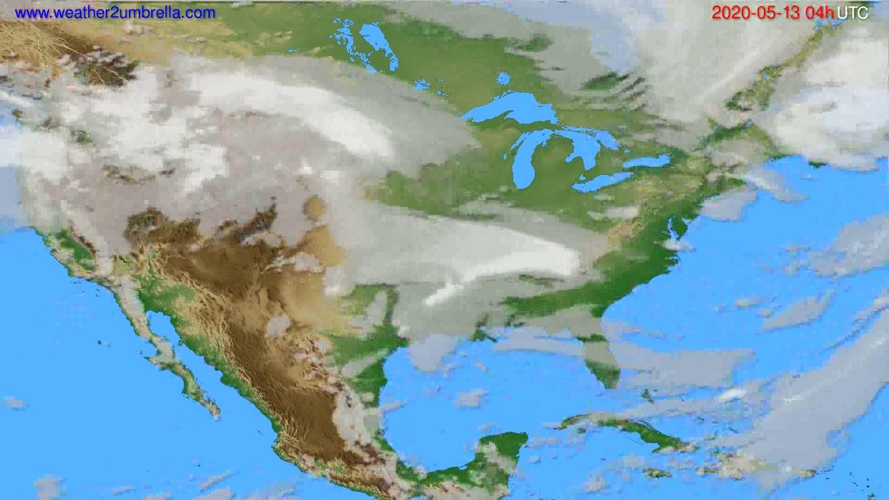 Cloud forecast USA & Canada // modelrun: 12h UTC 2020-05-12