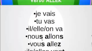 Conjugação do verbo ALLER (irregular do 1° grupo)
