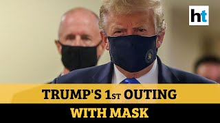Donald Trump wears a mask for the first time amid Covid pandemic - Download this Video in MP3, M4A, WEBM, MP4, 3GP