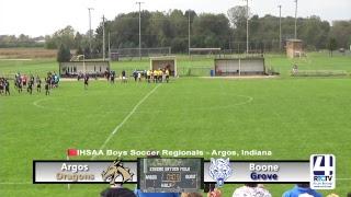 Regional Boys Soccer - Argos vs Boone Grove