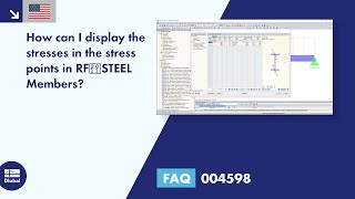 FAQ 004598 | How can I display the stresses in the stress points in RF‑STEEL Members?