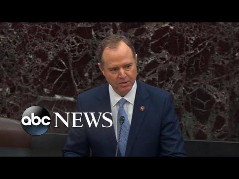 Schiff reads articles of impeachment to Senate