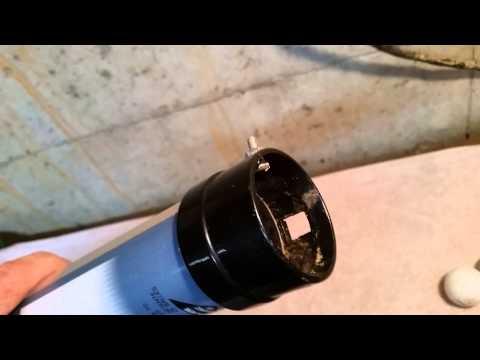 Golf ball shag tube -  repair