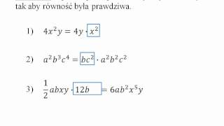 Wyrażenia algebraiczne - jednomiany