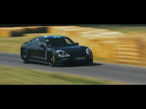 Porsche Taycan prototype visits Goodwood Festival of Speed 2019