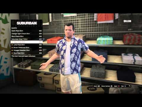 Grand Theft Auto V - Friend Request: Suburban Store Buy Geeky Clohes Gelets, Shirts, Youthful PS3