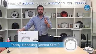 Amazing!!! Worlds flattest vacuum robot - Unboxing the deebot ecovacs Slim 2 with App