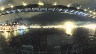 Time lapse Honkong habour arrival with 260m Ship HD