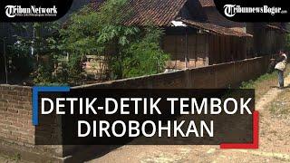 Detik-detik Tembok di Depan Rumah Wisnu Dirobohkan, Pembongkaran Dipimpin oleh Bupati Ponorogo