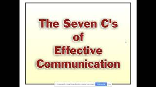Business Communication: Principles of Effective Communication, & 7 Cs of Business Communication