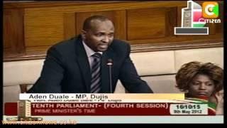 Raila, Ruto clash In Parliament