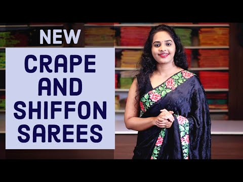 "<p style=""color: red"">Video : </p>New Crape And Shifon Fancy Sarees Collections 