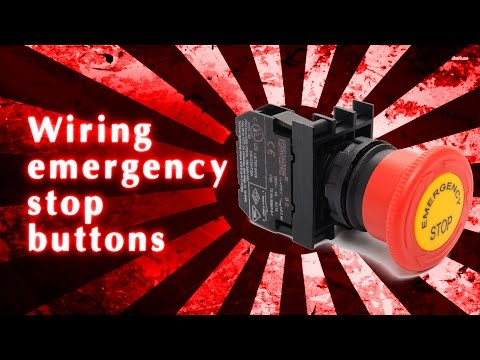 Wiring emergency stop buttons