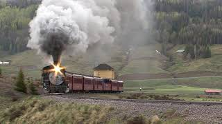 Locomotive 484 traveling by Los Pinos - Video by James Parfrey