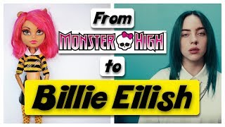 MAKING BILLIE EILISH DOLL   BAD GUY MONSTER HIGH REPAINT By Poppen Atelier