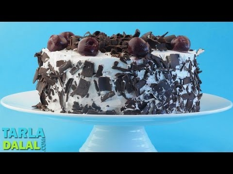 Video Black Forest Cake, Recipe in Hindi (ब्लैक फॉरेस्ट केक) by Tarla Dalal