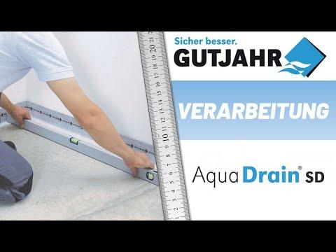 Die GUTJAHR Drainage AquaDrain SD für die Außentreppe