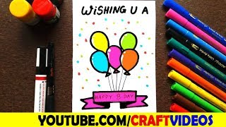 HOW TO DRAW BIRTHDAY CARD FOR MOM
