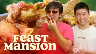 Joji and Rich Brian Make Spicy Indonesian Fried Chicken | Feast Mansion