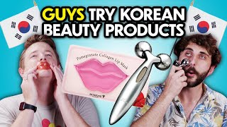 Guys Try Korean Beauty Products For The First Time | React