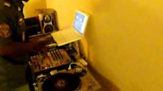 "DJ Hands scratching on Tom G-Err Body- ""Kush N Kup"""