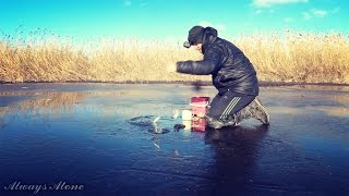 Рыбалка плотвы по первому льду