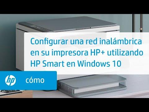 Configurar una red inalámbrica en su impresora HP+ utilizando HP Smart en Windows 10 | HP Smart | HP