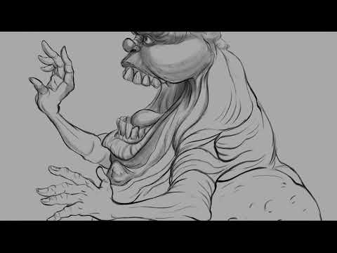 Drawing a turn around process of Slimer from Ghostbusters_Part 2