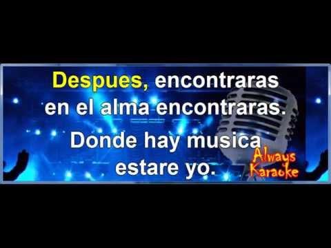 Eros Ramazzotti - Donde hay Musica - Karaoke Lyrics Letra